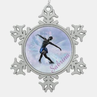 Adorno De Peltre Tipo Copo De Nieve Princesa Snowflake Ornament del hielo