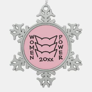 Adorno De Peltre Tipo Copo De Nieve Protesta rosada de las mujeres de la resistencia