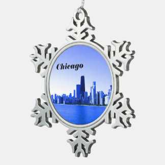Adorno De Peltre Tipo Copo De Nieve Puntos culminantes profundamente azulados del