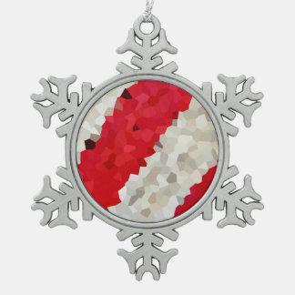 Adorno De Peltre Tipo Copo De Nieve Rayas del día de fiesta del vitral del polígono