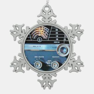 Adorno De Peltre Tipo Copo De Nieve Receptor de radio de la onda corta del vintage
