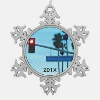 Adorno De Peltre Tipo Copo De Nieve Recuerdo de la muestra el | California de la