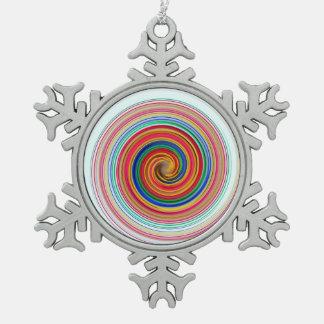 Adorno De Peltre Tipo Copo De Nieve Remolinos del color primario
