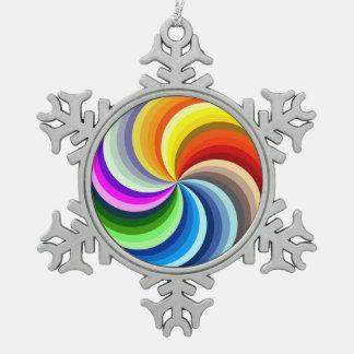 Adorno De Peltre Tipo Copo De Nieve Remolinos vibrantes