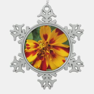 Adorno De Peltre Tipo Copo De Nieve Rojo amarillo bicolor de la maravilla