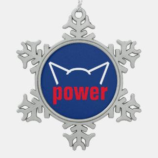 Adorno De Peltre Tipo Copo De Nieve Rojo blanco del gatito del poder de gato de la