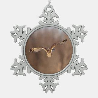 Adorno De Peltre Tipo Copo De Nieve salto Cortocircuito-espigado del búho hacia la