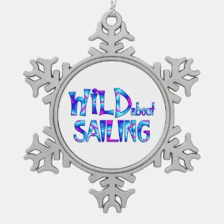 Adorno De Peltre Tipo Copo De Nieve Salvaje sobre la navegación