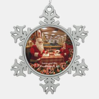 Adorno De Peltre Tipo Copo De Nieve Santa y señora Frankenmuth, copo de nieve 1 del MI