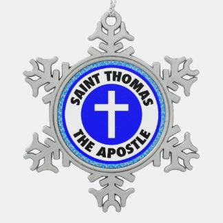 Adorno De Peltre Tipo Copo De Nieve Santo Tomás el apóstol