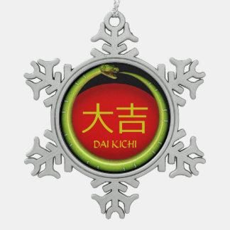 Adorno De Peltre Tipo Copo De Nieve Serpiente del monograma de Dai Kichi