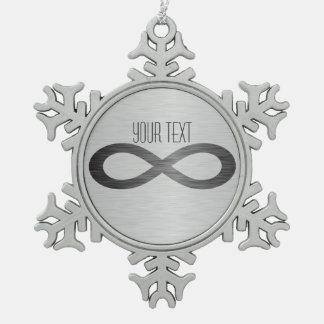 Adorno De Peltre Tipo Copo De Nieve Símbolo del infinito en falsa textura del metal