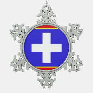 Adorno De Peltre Tipo Copo De Nieve símbolo país-región de la bandera central de