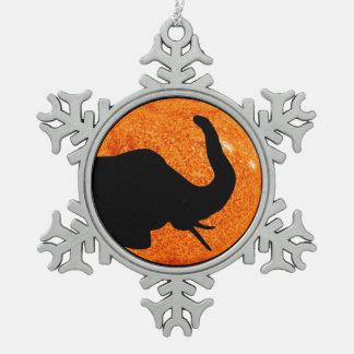 Adorno De Peltre Tipo Copo De Nieve Sombra del eclipse solar del perfil del elefante
