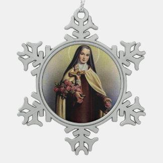 Adorno De Peltre Tipo Copo De Nieve St. Teresa del niño Jesús poca flor