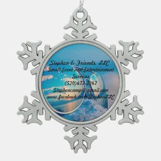 Adorno De Peltre Tipo Copo De Nieve Stephon y ornamento del copo de nieve del estaño