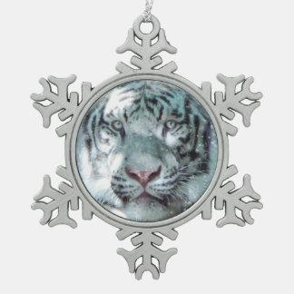 Adorno De Peltre Tipo Copo De Nieve Tigre blanco como la nieve