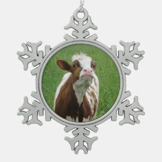 Adorno De Peltre Tipo Copo De Nieve Vaca de leche de la lechería en la granja