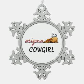 Adorno De Peltre Tipo Copo De Nieve Vaquera de Arizona de la CAMISETA