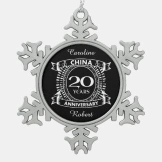 Adorno De Peltre Tipo Copo De Nieve vigésima China del aniversario de boda