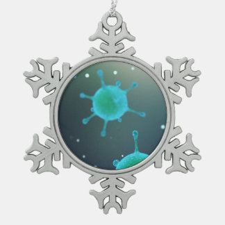 Adorno De Peltre Tipo Copo De Nieve Virus magnificado