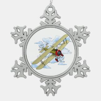 Adorno De Peltre Tipo Copo De Nieve Vuelo del biplano del vintage