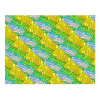 Adorno de seda de seda de oro: Regalos decorativos Postal