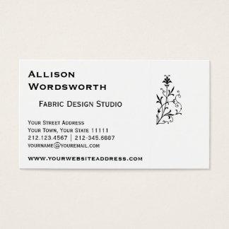 Adorno decorativo floral del vintage elegante tarjeta de negocios