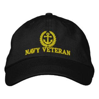 Adorno del ancla de los marineros del veterano de gorros bordados