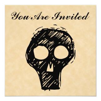 Adorno del ejemplo del cráneo invitación 13,3 cm x 13,3cm