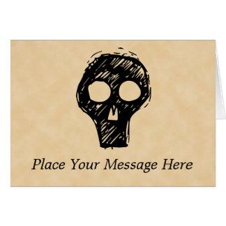 Adorno del ejemplo del cráneo tarjeta de felicitación