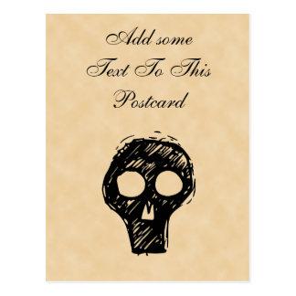 Adorno del ejemplo del cráneo postal