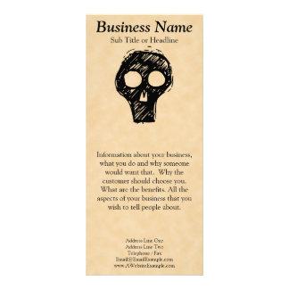 Adorno del ejemplo del cráneo diseño de tarjeta publicitaria