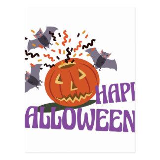 Adorno del feliz Halloween Postal