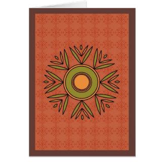 Adorno del medallón tarjeta de felicitación