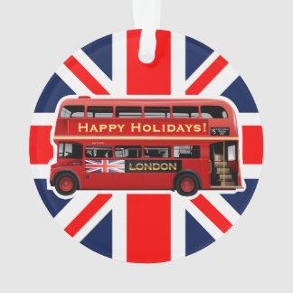 Adorno El autobús rojo famoso de Londres
