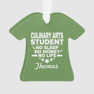 Adorno Estudiante de artes culinarios ninguna vida o