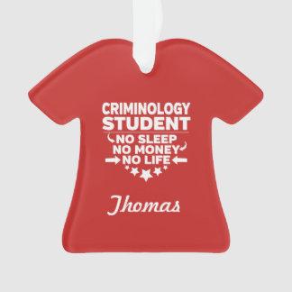 Adorno Estudiante de la criminología ninguna vida o