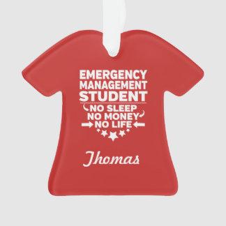 Adorno Estudiante de la gestión de emergencia ninguna