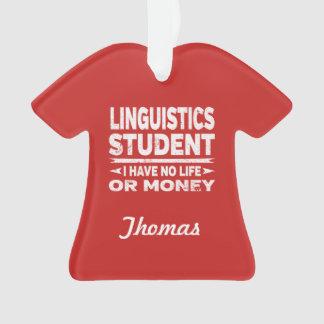 Adorno Estudiante universitario de la lingüística ninguna