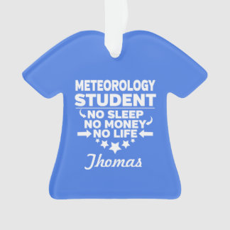 Adorno Estudiante universitario de la meteorología