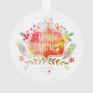 Adorno Felices Navidad retras de la acuarela