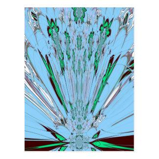 Adorno floral asombroso azul de la aguamarina postal