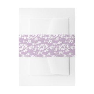 Adorno floral de la lavanda de la flor de cerezo cintas para invitaciones