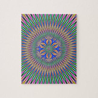 Adorno floral en color puzzle