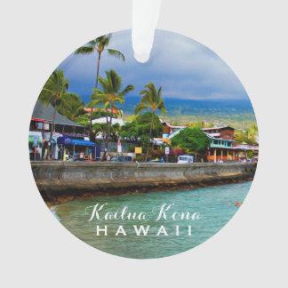 Adorno Foto y texto de Hawaii 2 del embarcadero de Kailua