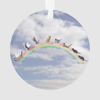 Adorno Gatos que esperan en el puente del arco iris
