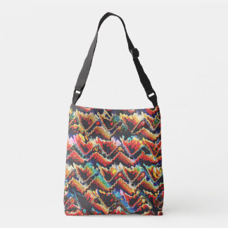 Adorno geométrico colorido bolsa cruzada