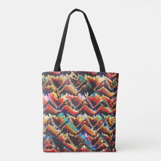 Adorno geométrico colorido bolsa de tela