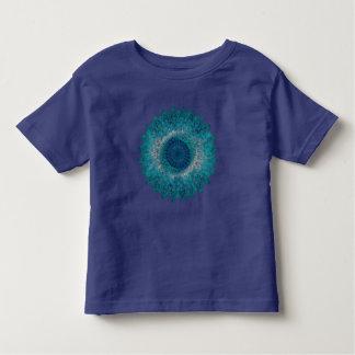 Adorno geométrico de la hoja camiseta de bebé